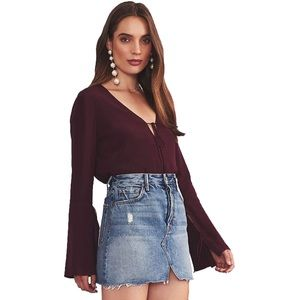 Lovers + Friends Burgundy Top, size M